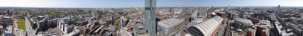 Manchester panorama from 400'