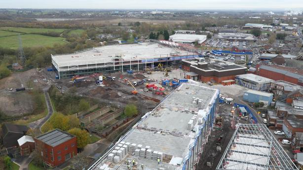 Aerial Video, Cheshire Retail Development