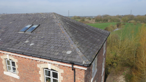 Aerial drone roof inspection