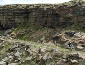 Aerial Mountain Bike Drone Video