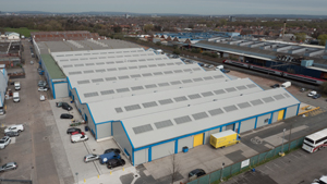 Commercial property drone photography