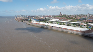 Aerial Photo Liverpool Waterfront