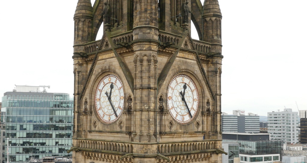 Manchester Town Hall aerial building inspection