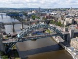Aerial Drone Photo Tyne Bridge Newcastle