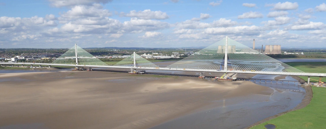 Mersey Gateway Bridge drone survey